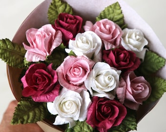 First Wedding Anniversary Gift   Paper Anniversary Flower Bouquet