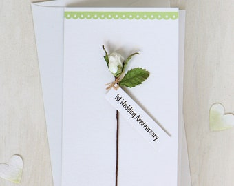 1st Wedding Anniversary Card | First Paper Anniversary Card