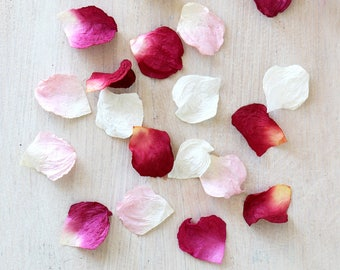 Paper Petals   Rose Petals for Table, Aisle Decoration and Confetti - Red, Pink, White