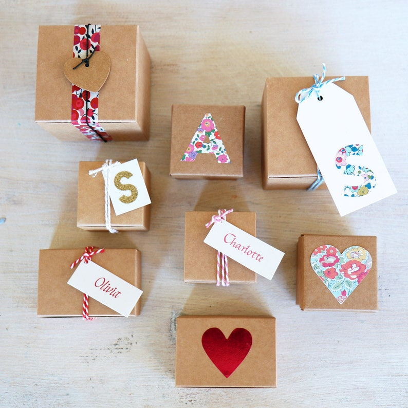 Sweets /& Chocolates x10 boxes 7.5cm DIY Favour Box for Gifts Wedding Favours