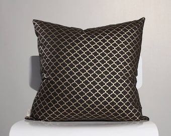 Black Gold Pillow Etsy