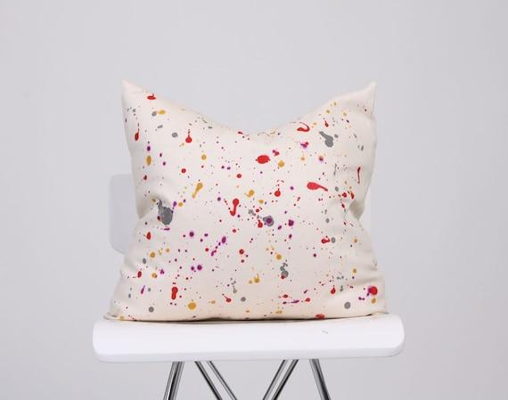 Paint Splatter Pillow | Etsy