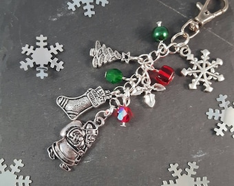 Christmas Gift Bag Charm - advent calendar gift - santa sack - christmas shopping -  secret santa - stocking filler - christmas decoration