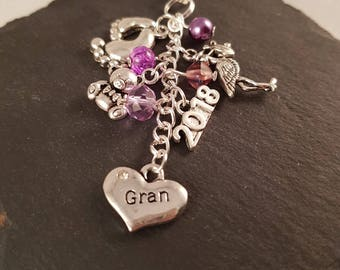 Gran bag charm - new Gran gift - Gran gift - gift for Gran - Gran to be - gift for new Gran - grandparent gift - baby shower