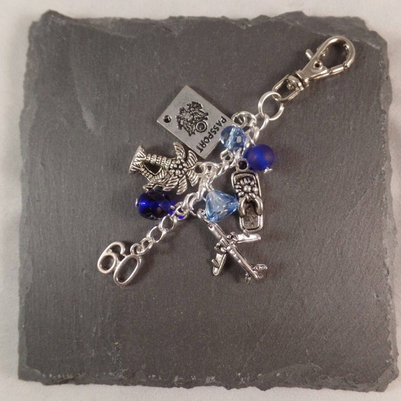 60th Birthday Gift Bag Charm Can Be Personalised