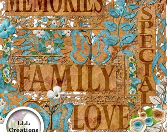 Downloadable Files - Nothing will be shipped - LLL Scrap Creations  - Special Memories - Digital Scrapbooking Kit