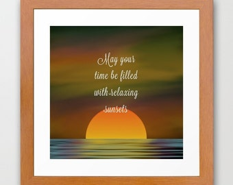 Downloadable Files - Nothing will be shipped - Relaxing Sunsets - Instant Download - Printable Art