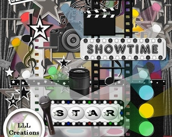 Downloadable Files - Nothing will be shipped - LLL Scrap Creations - In The Spotlight - Digital Scrapbooking Kit