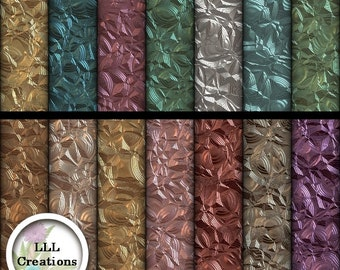 Downloadable Files - Nothing will be shipped - LLL Scrap Creations - Patterned Metal Papers - Digital Scrapbooking Kit