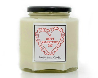 Happy Valentines Day Gift, Valentines Day Gift, Romantic Candle, Scented Candles, Valentines Present, Gift for girlfriend/Boyfriend, Candles