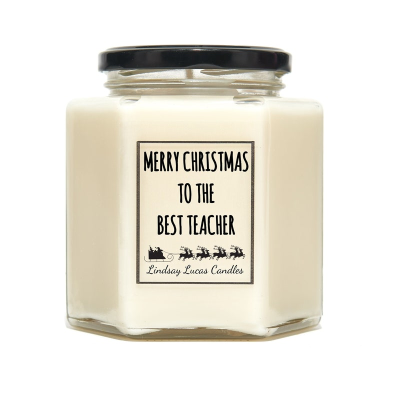 Personalised Christmas Scented Candle Gift For image 0