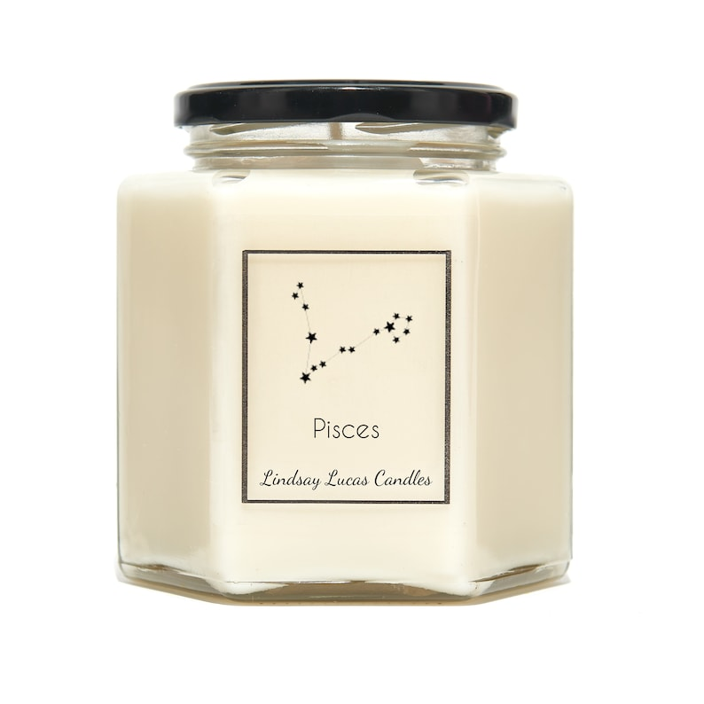 Pisces Star Sign SCENTED CANDLE Zodiac Constellation image 0