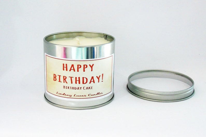 Birthday Cake Candle Scented Tin