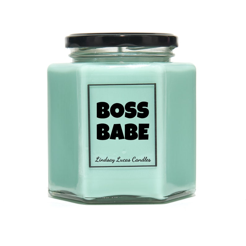 Feminist Motivational Gift For Her Boss Babe Scented Candle