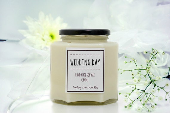 Candle Wedding Gift: Wedding Gift Wedding Candle Wedding Day Scented Candle