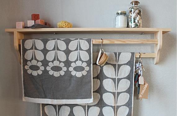 Bathroom Shelf Towel Rack Towel Rail Bathroom Storage Hanging Rack Wall Shelf Shelf With Rail Children Shelf Kitchen Shelf