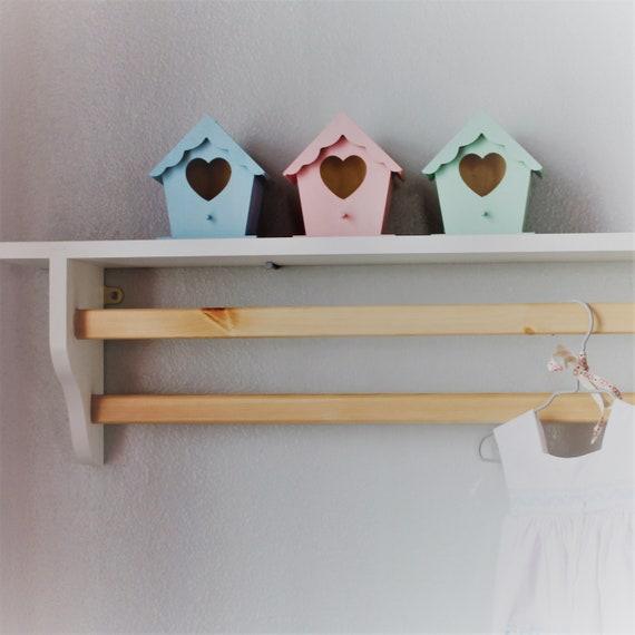 Bad Regal | Handtuchhalter | Handtuchhalter | Badezimmer Lagerung |  Aufhängemöglichkeit | Wandregal | Regal mit Schiene | Kinder Regal  Küchenregal