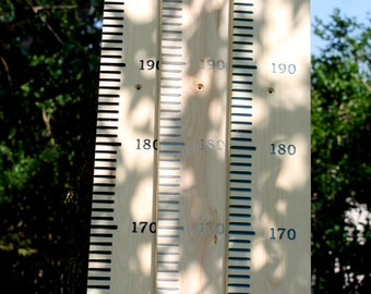 Giant ruler growth height chart METRIC