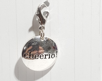Cheerio! Progress Keeper, Stitch Marker - 16mm silver lobster clasp finding - PK0055