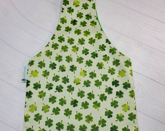 Lucky Clover Small Knitting Project Bag Tote, Over the Wrist Tote, Reversible Tote Bag, Sock Sack WTS024
