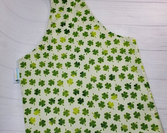 Lucky Clover Medium Knitting Tote, Knitting Project Bag, Over the Wrist Tote, Reversible Tote, Market Bag, Knitting Sack WTM02