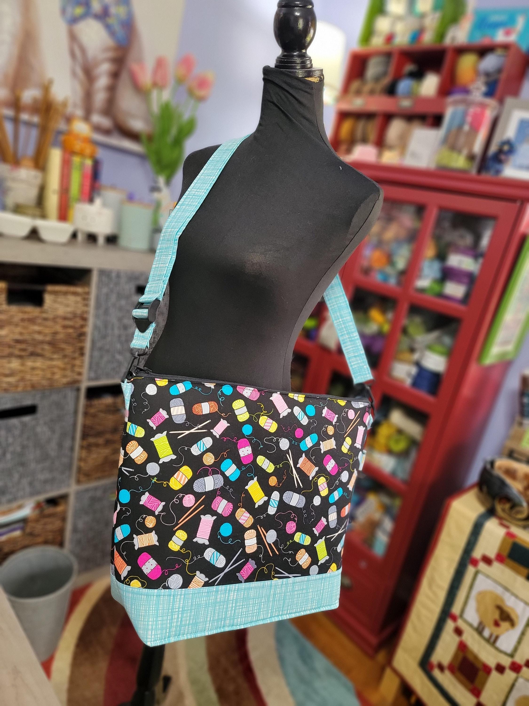 Project Bag Zipper Extra Large Knitting Bag Knitting Tote Sweater Project Bag Project Bag Knitting Project Bag Zippered Wedge Bag