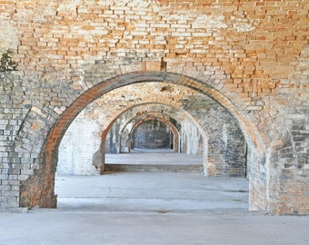 Fort Pickens arch photography, Ft. Pickens brick arch art, Ft. Pickens arches picture