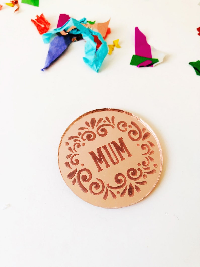 cake accessories  mirror acrylic gift tags engraved charm cake decorations perspex Mothers day acrylic cake charm
