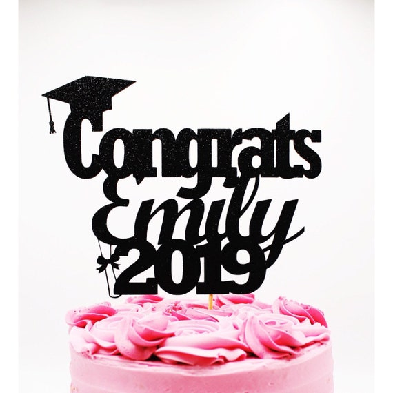 Graduation Party Decorations Custom Cake Topper Graduation Party Graduation Cake Topper Name Cake Topper Class of 2020