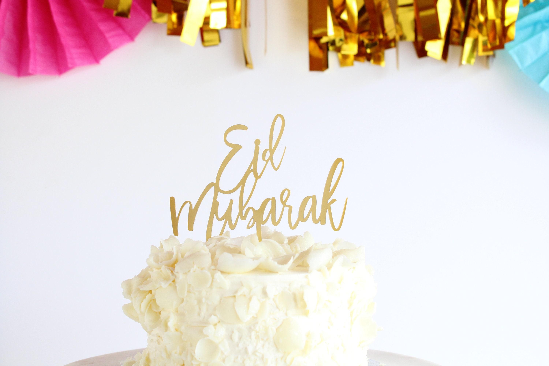 Home Garden Cake Toppers Gold Gold Mirror Eid Mubarak Cake Topper Eid Decor Silver Glitter Stbalia Ac Id