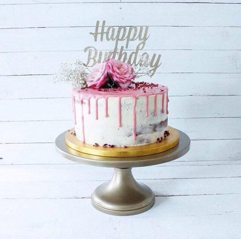 Birthday Cake Topper Nombre Âge Personnalisé Anniversaire Bleu 16 18 20 21 30 40 50 60 70