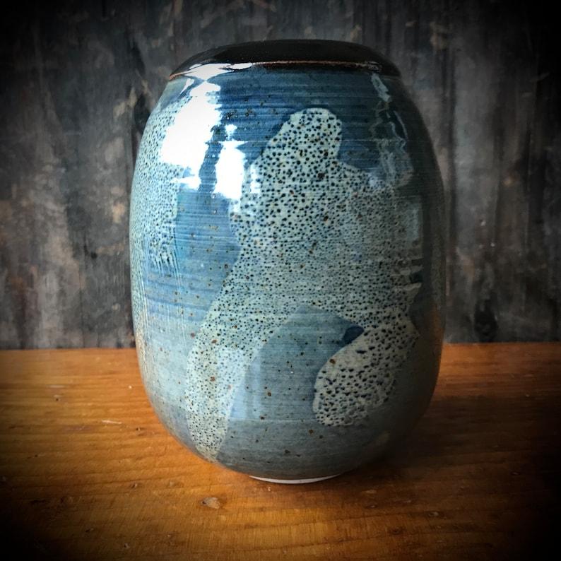 Kazuko Matthews Studio Pottery Stoneware Vase Soldner Student California Pottery