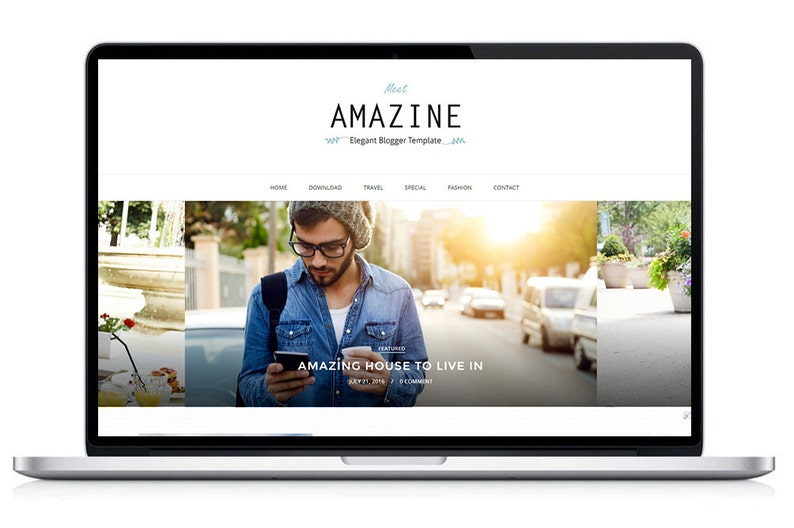 Amazine Premade Blogger Template  Premium Blogger Theme  image 0