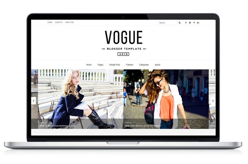 Responsive Blogger Templates Vogue 2016 image 0