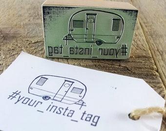 Custom Hashtag Stamp, Camping Camper STAMP, Camp Stamp, Logo Stamp, Personalized Tag Stamp, Travel Custom Stamp - Rubber Custom Stamp