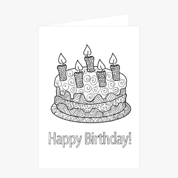 Pastelitos De Cumpleaños Para Colorear Imágenes Y Dibujos