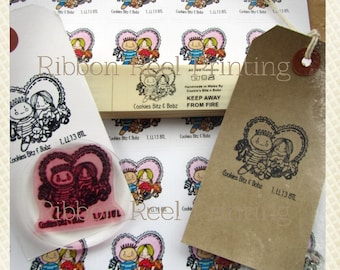 Custom, Bespoke, Brand Pack B - includes stamp, sew in labels and adhesive sticky labels