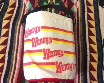 804f83d4058c Rare Late 1980s Wendy's Insulated Cooler Bag