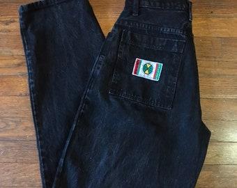6d3c4b54716 Vintage 90s Cross Colours Hip Hop Black Denim Pants 29x32