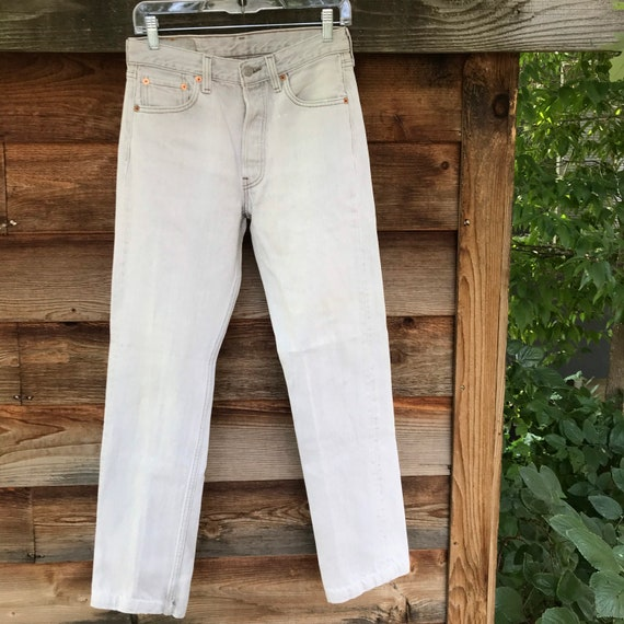 Vintage 1990's super faded Levis distressed white