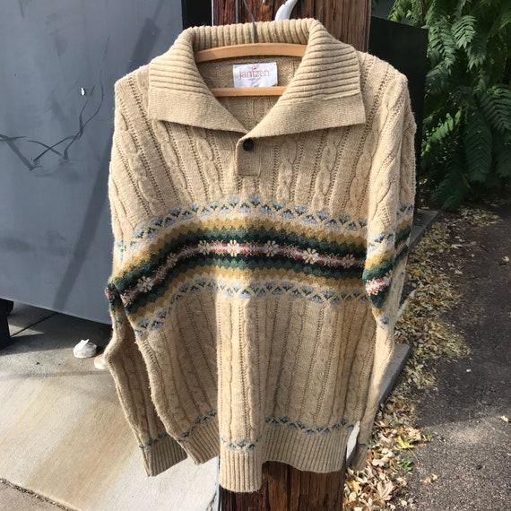 Vintage 1980's 70's Jantzen wool blend pull over s