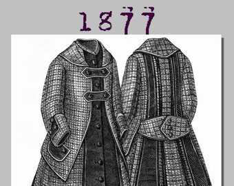 Dress for girl from 4-6 years old - 1870's -  Victorian Reproduction PDF Pattern - made from an original 1877 pattern