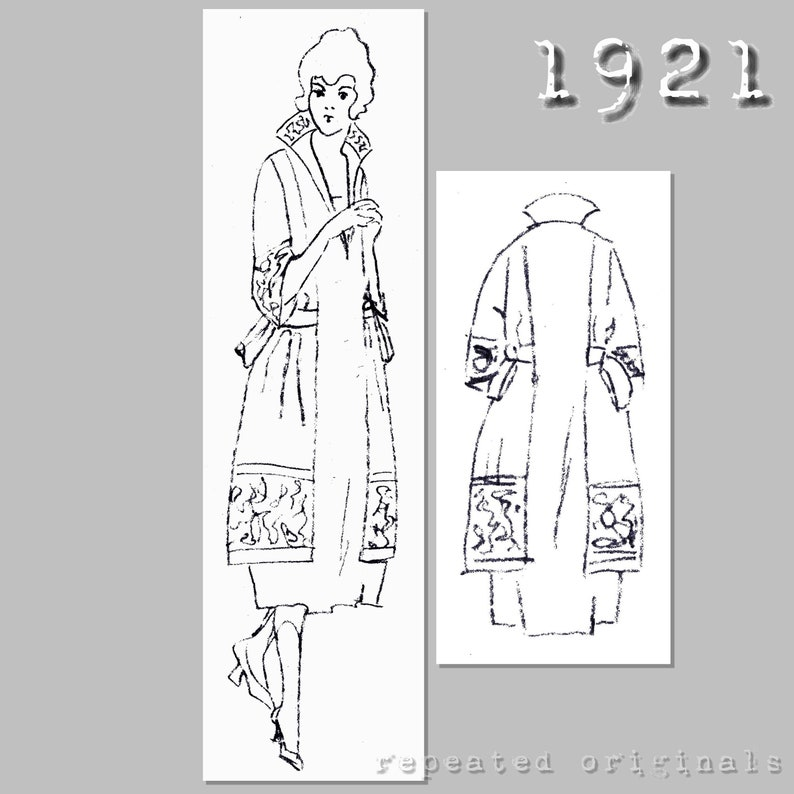 1920s Patterns – Vintage, Reproduction Sewing Patterns Dress with a stand up collar - 96cm bust - Vintage Reproduction PDF Pattern - 1920s - made from original 1921 pattern $8.12 AT vintagedancer.com