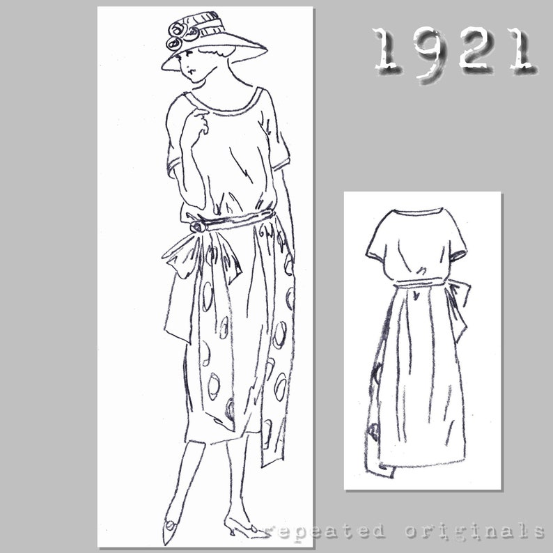 1920s Patterns – Vintage, Reproduction Sewing Patterns Simple Dress - 90cm bust - Vintage Reproduction PDF Pattern - 1920s - made from original 1921 pattern $6.09 AT vintagedancer.com