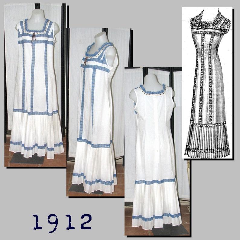 Vintage Inspired Slips Petticoat - 96cm bust - Vintage Reproduction PDF Pattern - 1910s - made from original 1912 La Mode Illustree Pattern $6.09 AT vintagedancer.com