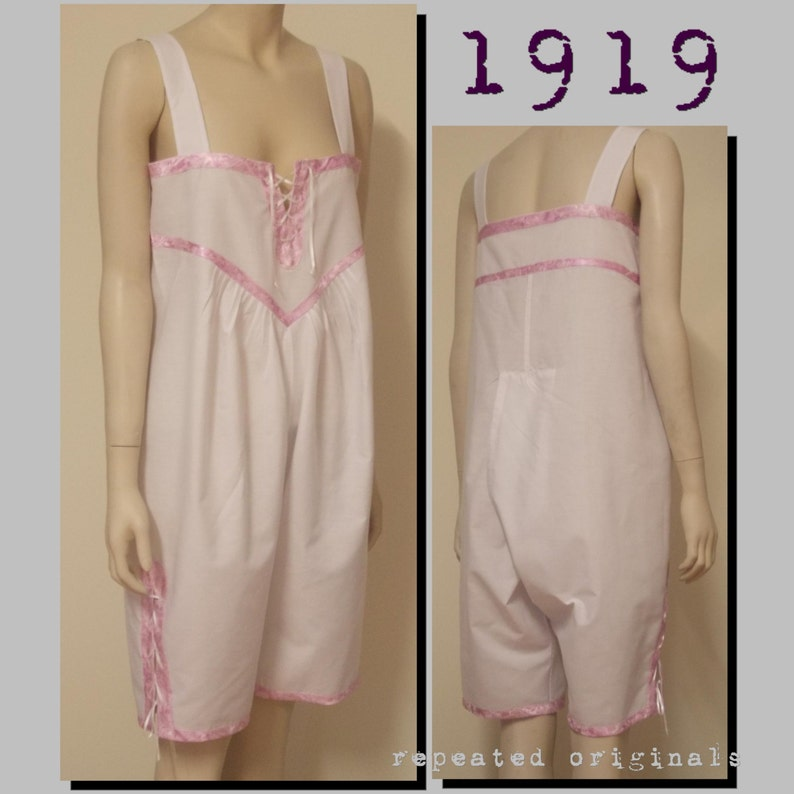Retro Lingerie, Vintage Lingerie, 1940s-1970s 1919 Open Combinations for a young lady - 34