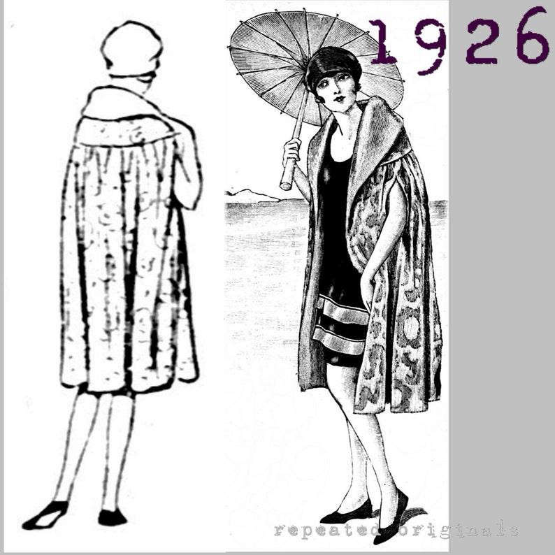 1920s Patterns – Vintage, Reproduction Sewing Patterns Ladys 2 Piece Bathing Suit Bathing Cap and Bathing Cape -Vintage Reproduction PDF Pattern - 1920s - made from original 1926 pattern $12.10 AT vintagedancer.com