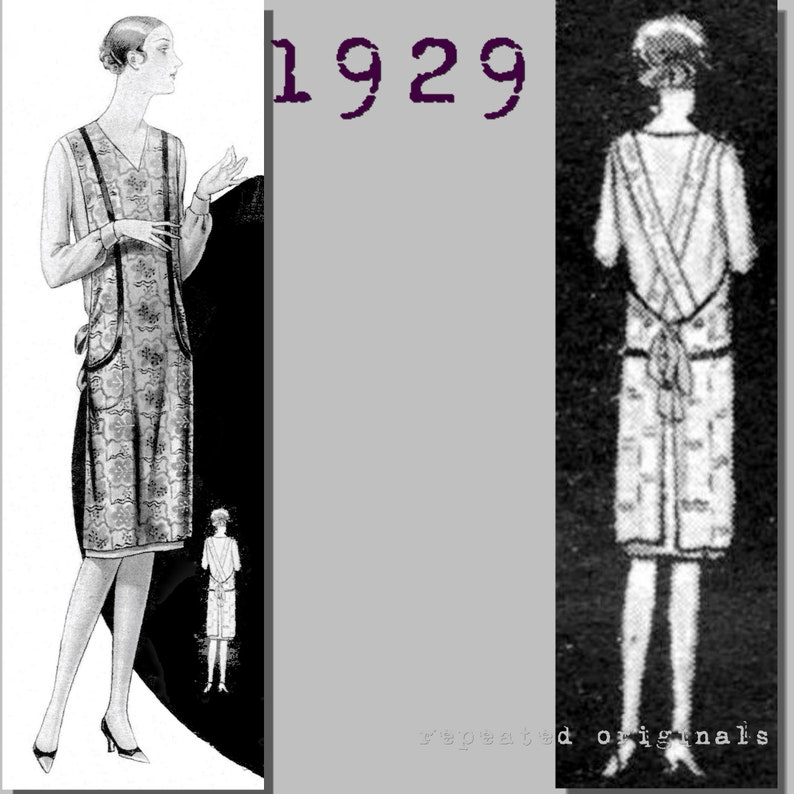 10 Things to Do with Vintage Aprons Ladies Apron - Vintage Reproduction PDF Pattern - 1920s - made from original 1929 pattern $4.06 AT vintagedancer.com