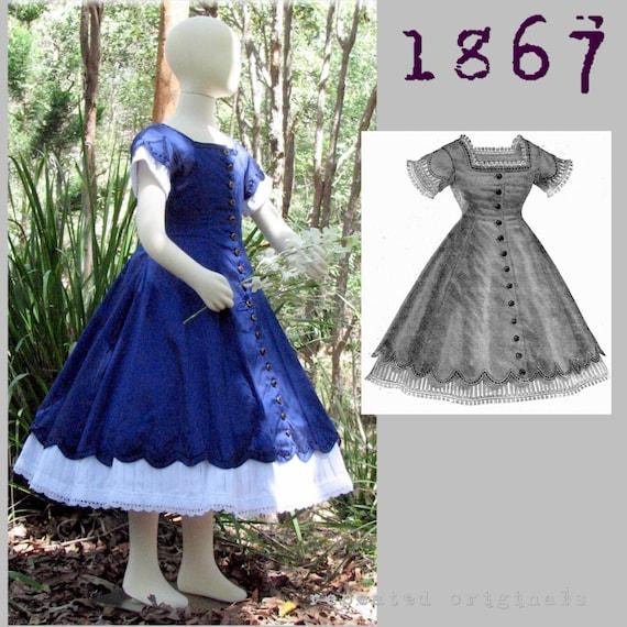 CIVIL WAR ERA  MODE ILLUSTREE SEWING PATTERN Jan 1,1866 DOLL clothing patterns
