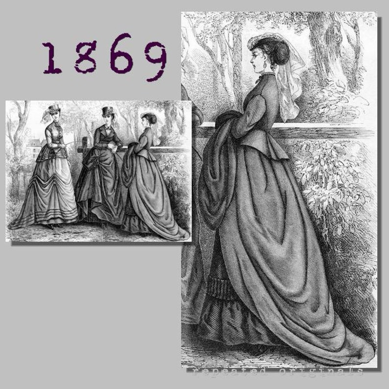 Victorian Dresses, Clothing: Patterns, Costumes, Custom Dresses Riding Habit (Bodice skirt and trowsers) - Victorian Reproduction PDF Pattern - 1860s - made from original 1869 Harpers Bazar pattern $11.56 AT vintagedancer.com